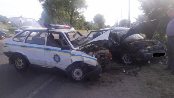 УКременчуці сталася ДТП заучасті екіпажу патрульної поліції - 4 чоловіка травмовано