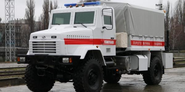 На помощь спасателям пришел новый пиротехнический КрАЗ
