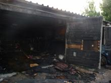 В Кременчуге горела пристройка к гаражу