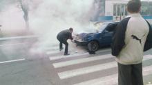 На Киевской загорелась «девятка»
