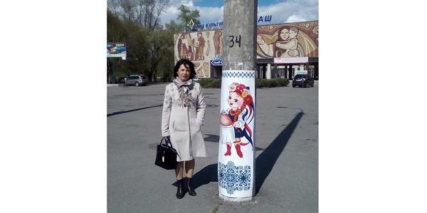 Электроопоры возле Дворца культуры «Кредмаш» преобразились