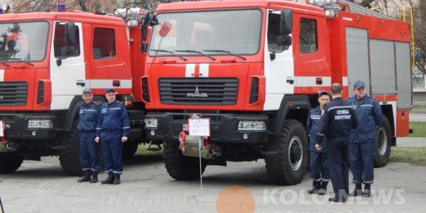 Кременчугские спасатели получили новенький МАЗ (дополнено)