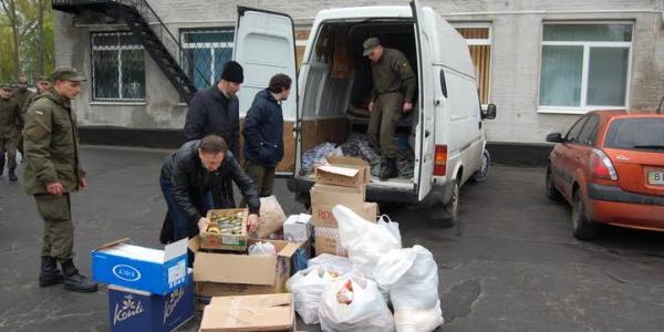 Два мешка освященных пасочек уехали из Кременчуга в АТО