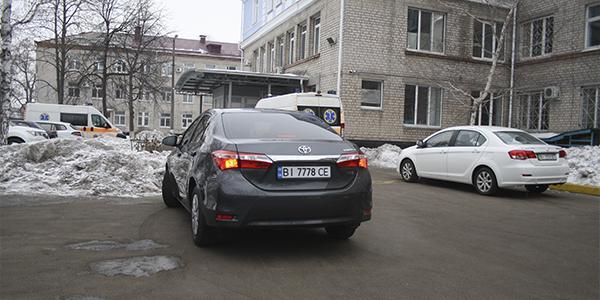 Машина Малецкого проехала под запрещающий дорожный знак