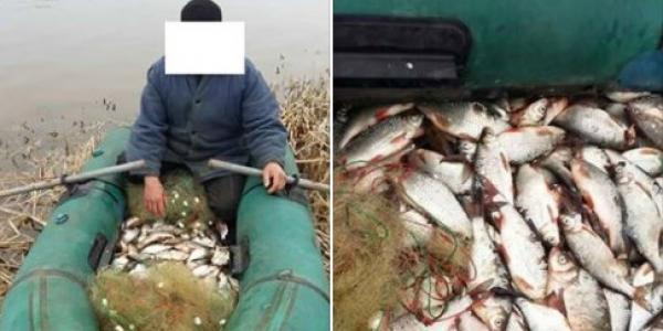 Браконьер наловил рыбы в Днепреи нанес 6 тыс. грн. ущербаприродному фонду