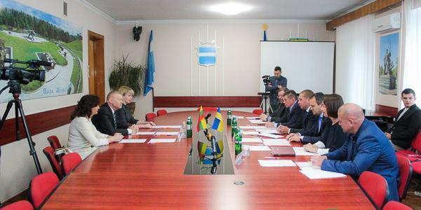 Официальная встреча: о чем говорили мэр Кременчуга  Малецкий и мэр Алитуса Григаравичюс