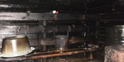 В Кременчуге горела баня