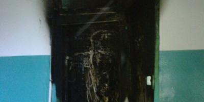 На выходных в Кременчуге горела квартира и подъезд