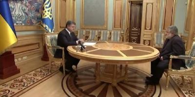 Коломойский подал в отставку. Порошенко ее принял- видео