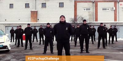 Кременчугские патрульные отжимались как десантники-штурмовики