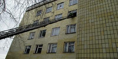Как в Кременчугской ЦРБ тушили пожар