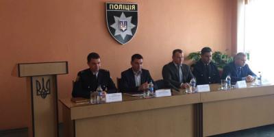 В Горишних Плавнях представили нового главного полицейского