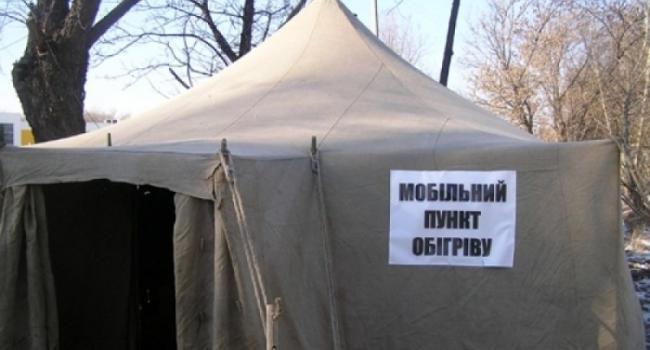 Из пункта обогрева в Кременчуге вчера госпитализировали женщину