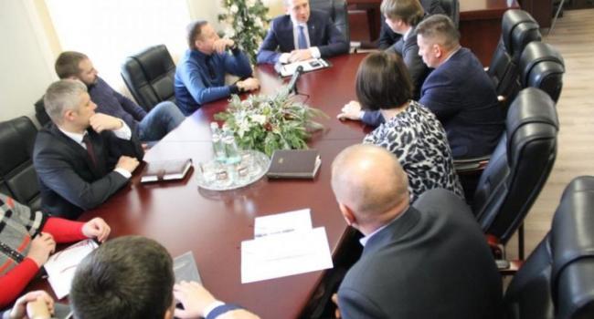 Кременчугские власти тайно встретились с главой облсовета Полтавщины