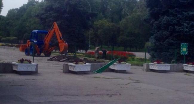 Фотофакт: в парке «Приднепровский» начали ремонт