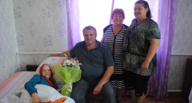 В Кременчуге поздравили с юбилеем еще одного долгожителя