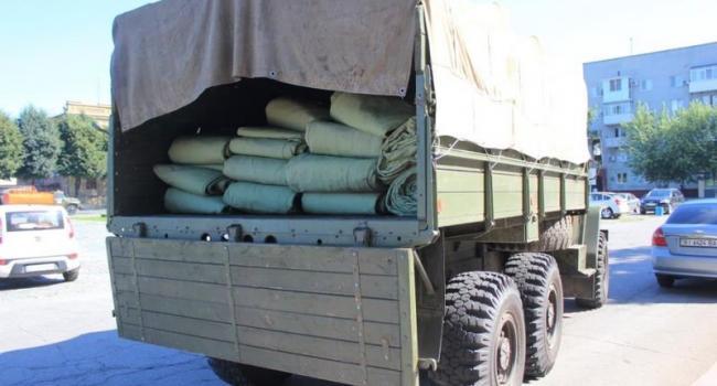 Кременчугская мэрия передала ракетчикам тенты