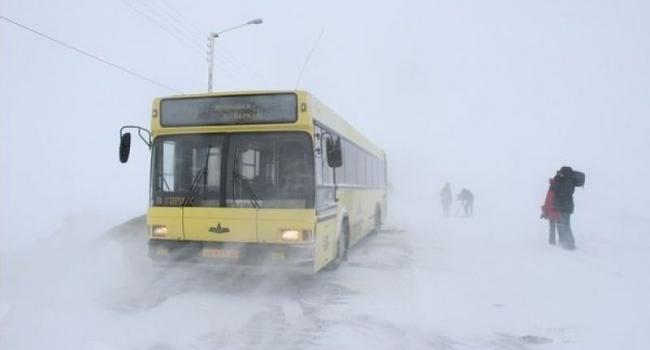 В Кременчуге автовокзал парализован из-за снегопада (дополнено)