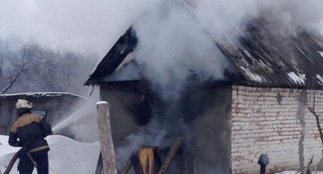 В Омельнике горела летняя кухня