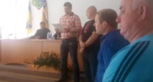 Председателю Кременчугского райсовета вручили «Грамоту позора»