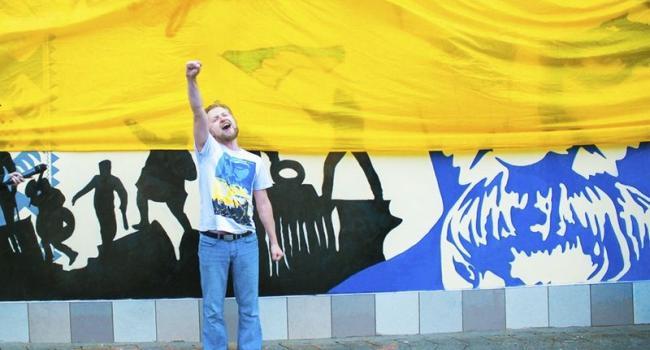 В Кременчуге открыли обновленное граффити Кобзаря
