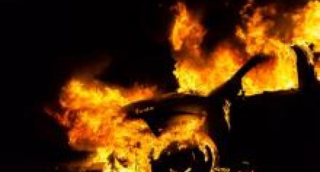 В Кременчуге сгорел автомобиль «Дэу Нексия»