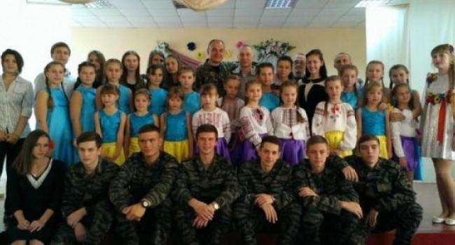 Кременчугские школьники поздравили участников АТО с праздником