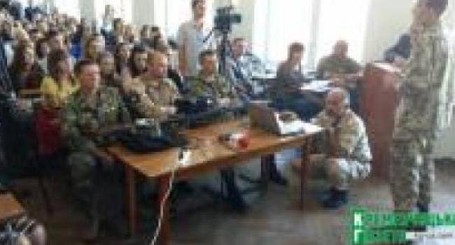 Кременчугские студенты узнали о буднях бойцов в АТО
