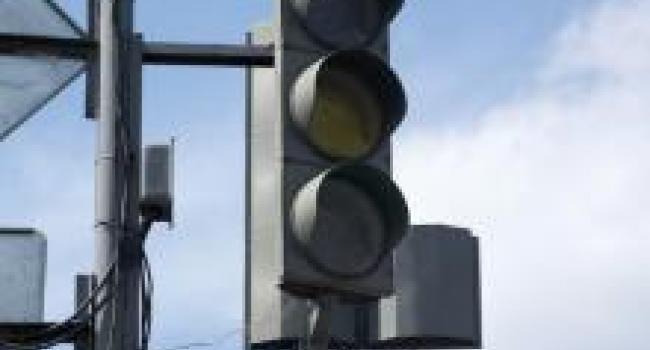 В Кременчуге не работает светофор в районе электростанции