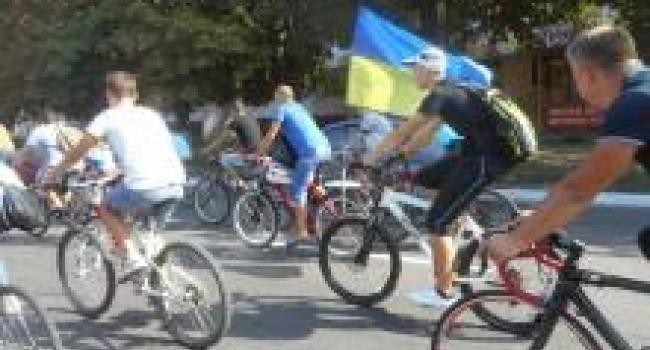 По улицам Кременчуга «с ветерком» промчались велосипедисты