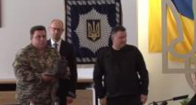 Командир роты «Кременчуг» Олег Беркеля награжден за заслуги перед родиной