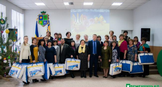 21 лучший учитель Кременчугского района не остались без подарка от нардепа Жеваго