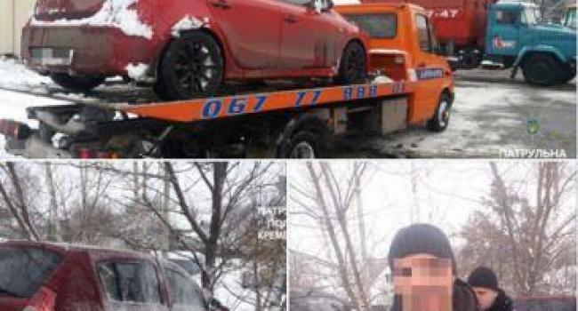 Патрульные Кременчуга эвакуировали автомобиль, находящийся в розыске