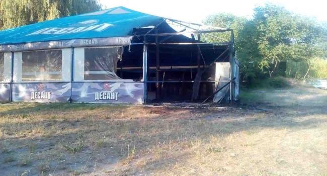 Діти підпалили бар «Кордон» у Кременчуці