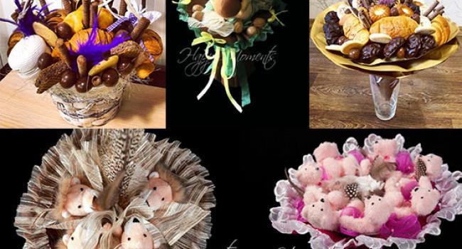 Букет из колбасы и плюшевых мишек: кременчужанки поражают креативом