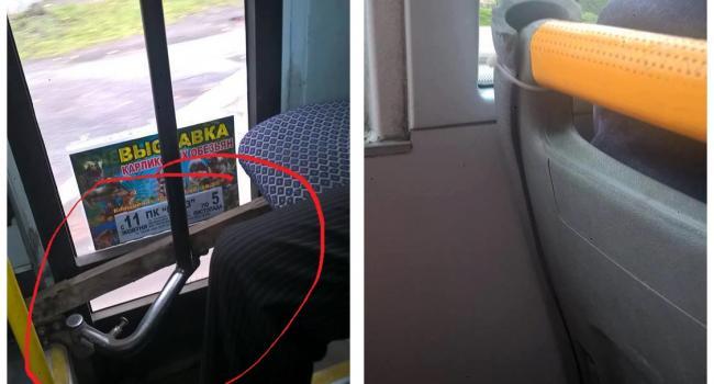 «Дрючок» замість фіксатора: у пасажирів кременчуцьких маршруток немає шансів