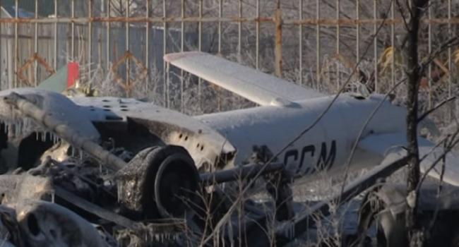 На месте крушения вертолета МИ-8 в Кременчуге обнаружена голова одного из членов экипажа