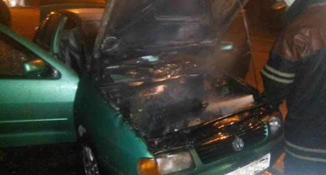 По улице Богдана Хмельницкого горел Volkswagen