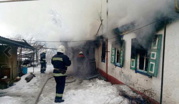 В Кременчугском районе в пожаре сгорела бабушка