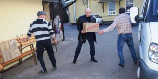 Батальону «Кремень» передали продукты и средства первой необходимости