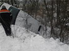 По дороге на Комсомольск перевернулась маршрутка (дополнено)