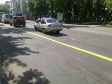В Кременчуге на центральных улицах обновили разметку