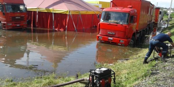 В Кременчуге затопило цирк и подвал на Переяславской