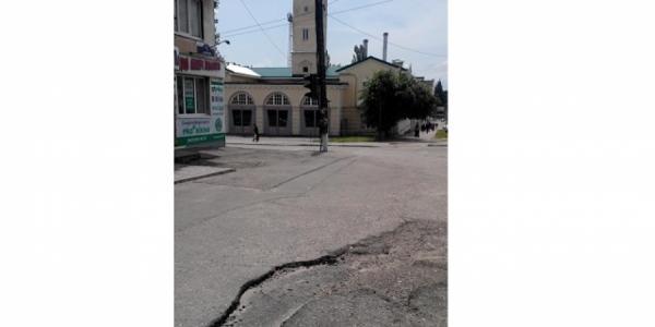 В нагорной части Кременчуга горная дорога