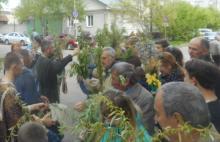 В Свято-Николаевском соборе не поместились все желающие