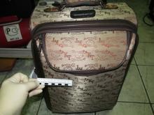 Убегая, воры оставили в подъезде чемодан с шубами