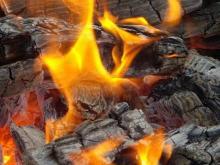 Под Кременчугом горели дрова