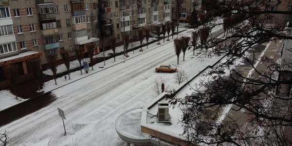 В Кременчуг вернулась зима