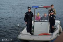 На Кременчугском море появился первый в Украине патруль водной полиции