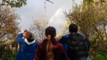 Кременчужане радовались радуге